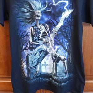 NEW Skeleton w/ Guitar tee, black